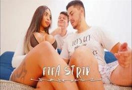 Bibi Griffo pelada em Fifa Strip com Aruan Felix 2019 em São Paulo