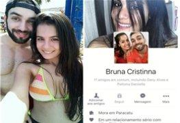Bruninha vazou na net em fotos intimas com seu namorado