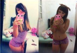 Carolina novinha caiu no Facebook