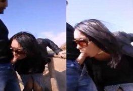 Esposa sendo filmada pagando boquete para um desconhecido