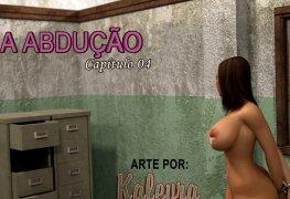 Estupro em quadrinhos porno: The Abduction 04