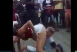 Favelada causando mto no meio da rua na favela rebolando ao som de funk