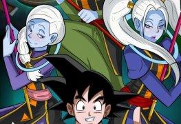 Goku treinando com duas gostosas