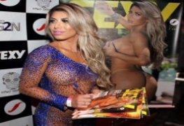Jéssica Arboleya,capa da revista Sexy metendo muito