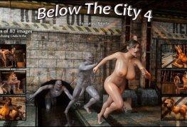 Lara Croft sendo perseguida pela cidade