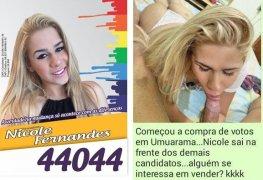 Nicole candidata a vereadora vazou mamando na rola