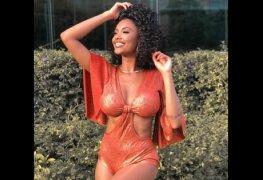 Pâmella gomes bailarina do faustão de peitos de fora no carnaval 2019