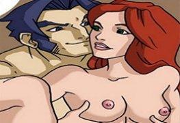 Quadrinhos hentai de X-Men Evolution - Wolverine fodendo Jean e Mistica