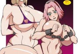 Sakura e Tsunade dando o bucetão no ritmo da Aldeia Oculta