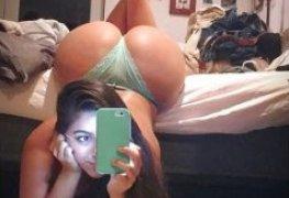 Selfie da bunda gostosa no espelho