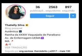 Thatielly Silva rainha da vaquejada de Paraibano - MA caiu na net