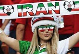 Torcedoras do Iran tiraram as burcas