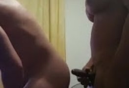 Travesti fodendo o macho casado