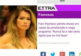 Vídeos da Ex-BBB Fani Pacheco cairam na net
